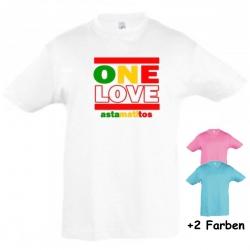 "Astamatitos T-Shirt ""ONE LOVE"" KIDS"