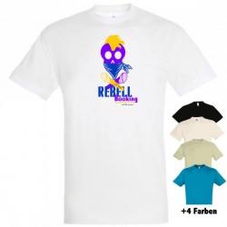"""Astamatitos T-Shirt """"REBELL BOOKING"""" MEN"""