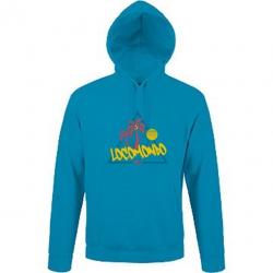 """Locomondo Hoodie """"80s"""" Unisex, AQUA-Blue"""