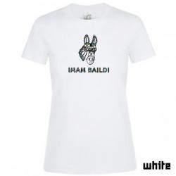 """Imam Baildi Bandschirt """"DONKEY"""" Women's, white"""
